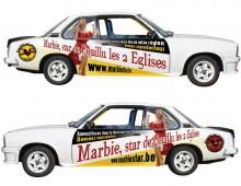 Garniture d'une Opel Ascona pour «Marbie, star»