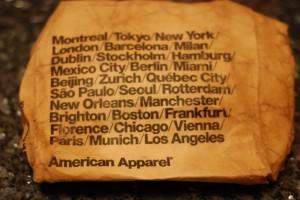 Amercian Apparel : un emballage mouillé
