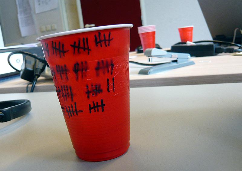Gobelet sur mon bureau