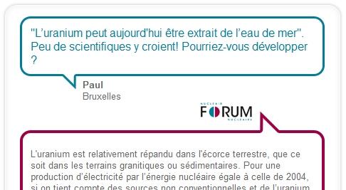 La question d'ExtraPaul dans le Forum Nucléaire