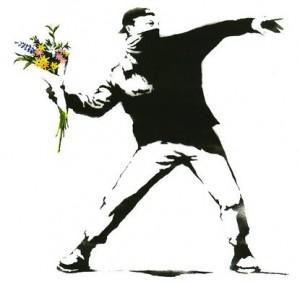 Pochoir de Banksy