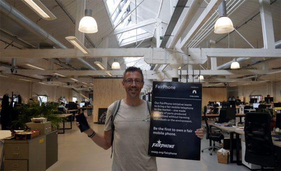 Dans les bureaux de Fairphone à Amsterdam